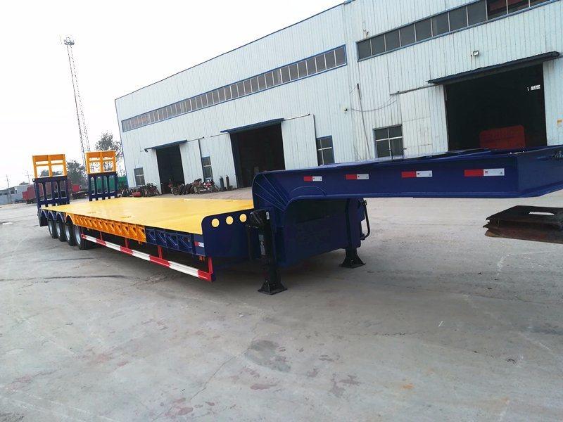 4 Axle 100 Ton Lowboy Trailer for Excavator