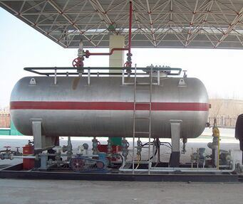 LPG Mounted Tank Filling Station Above Ground
