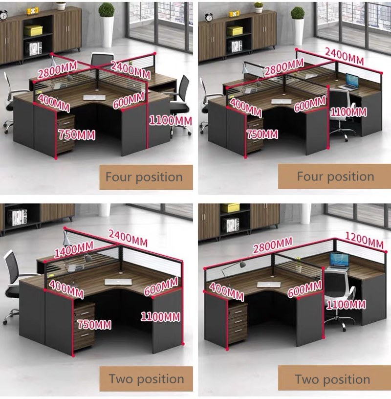 Modern Simple Office Furniture Workstations Metal Frame Computer Desk