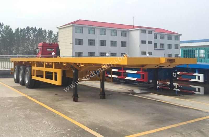 China 20FT 40FT 20 40 45 Feet Flat Bed Flatbed Co<em></em>ntainer Semi Trailer
