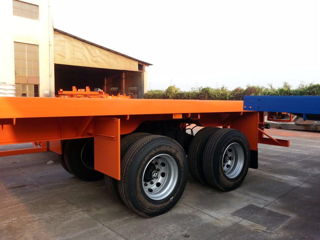 100 Ton 3 Axle 13 Meters Flatbed Semi Trailer