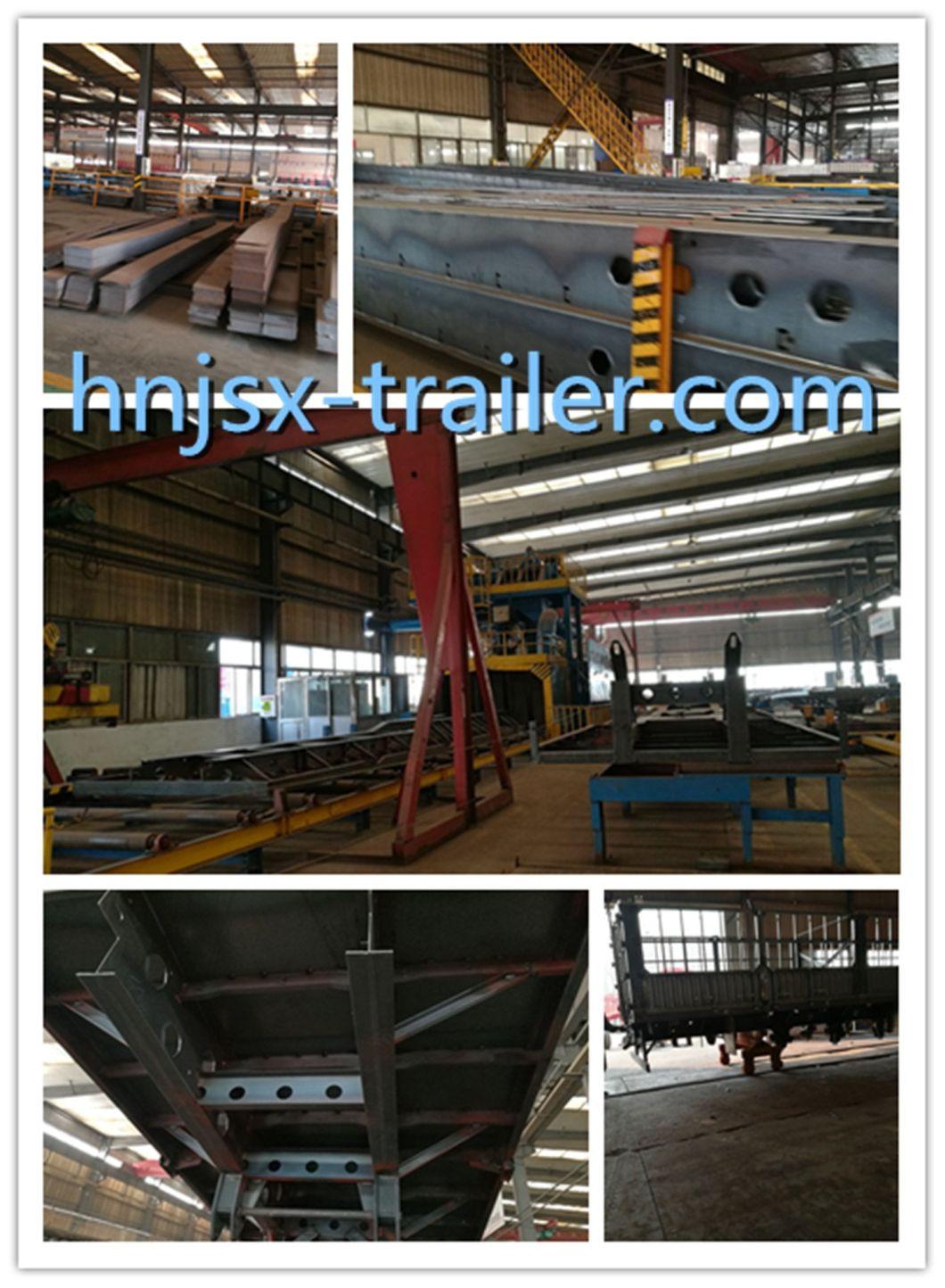 3 Axle Flatbed Transport Co<em></em>ntainer Semi Trailer for Sale