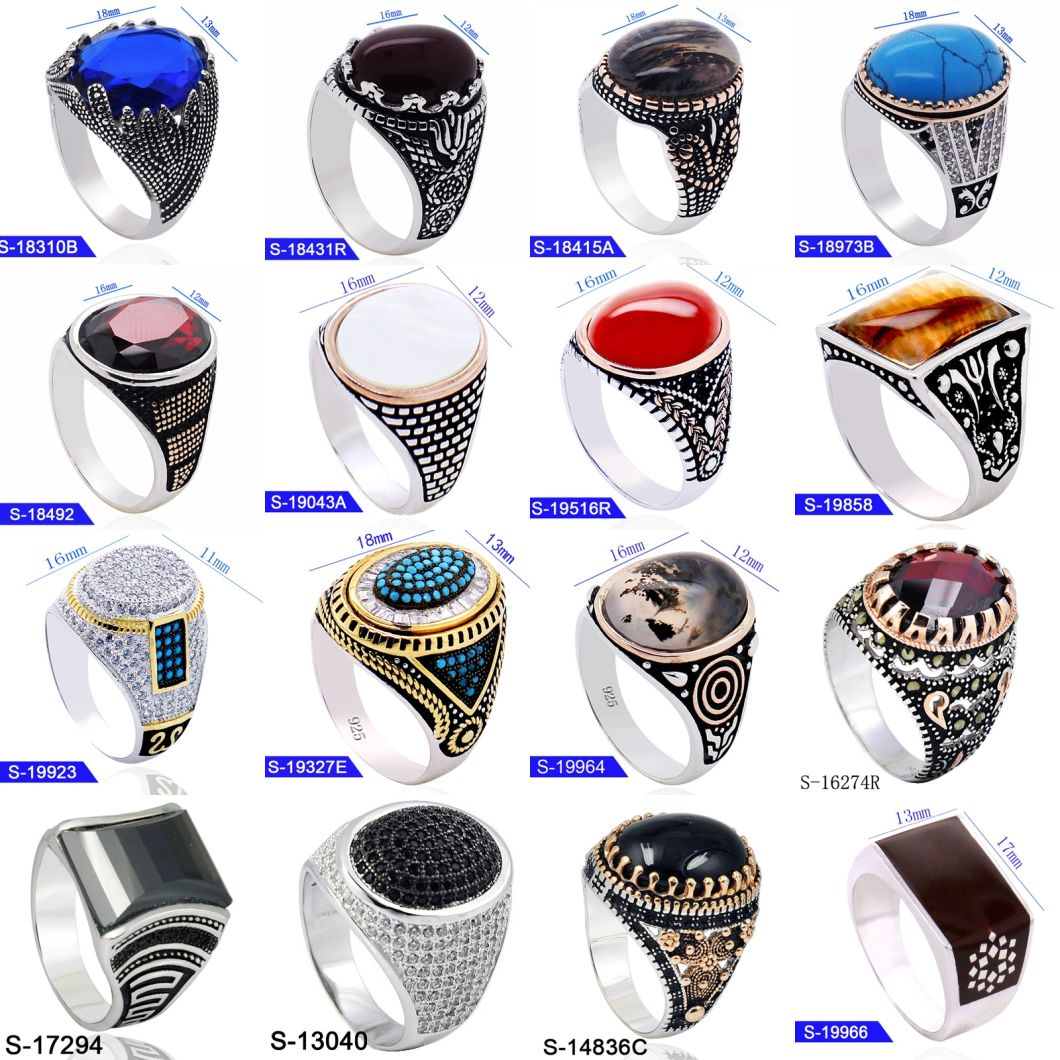 New Model Handmade Fine Jewelry 925 Sterling Silver Fashion Mens Rings for Sale