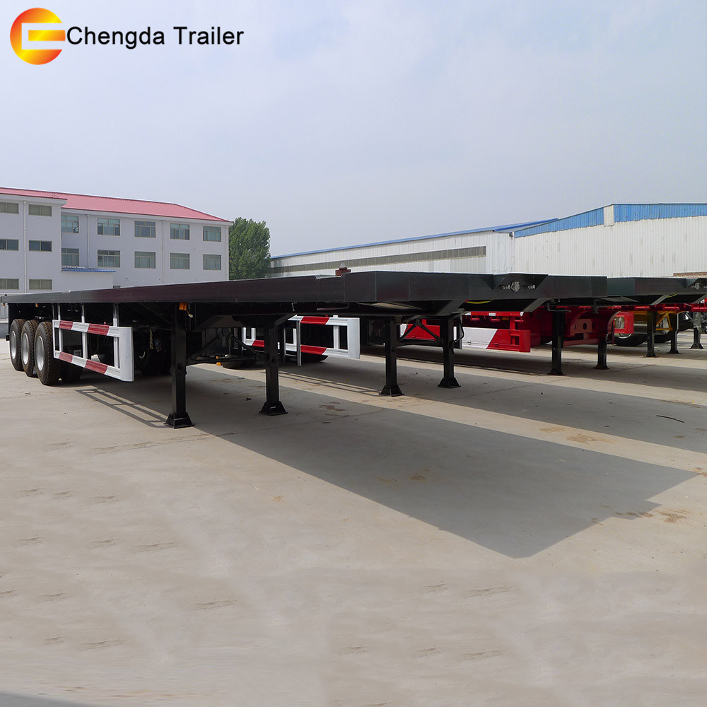 3 Axle 40ft Cheap Co<em></em>ntainer Flatbed Semi Trailers