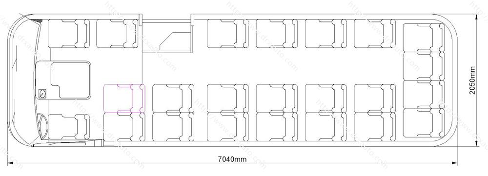 Mudan 130HP 23 Seats Coaster Minibus