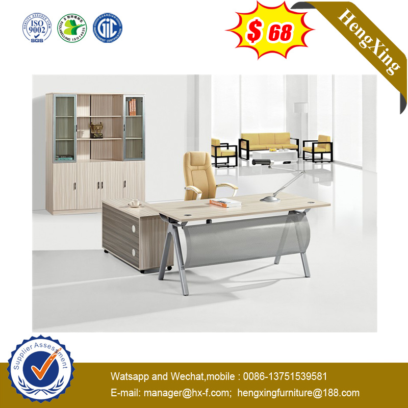 Hot Selling Executive Melamine Office Desks School Office Furniture with Metal Leg