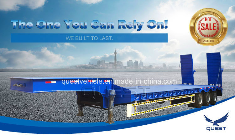 Heavy Duty 4axles 100ton Low Bed Trailer Made in China