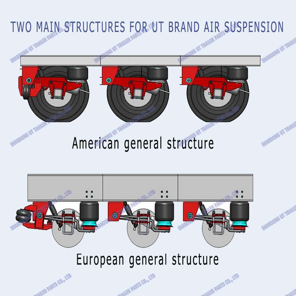 Singel Axle with Shock Absorber Germany Type Air Suspension
