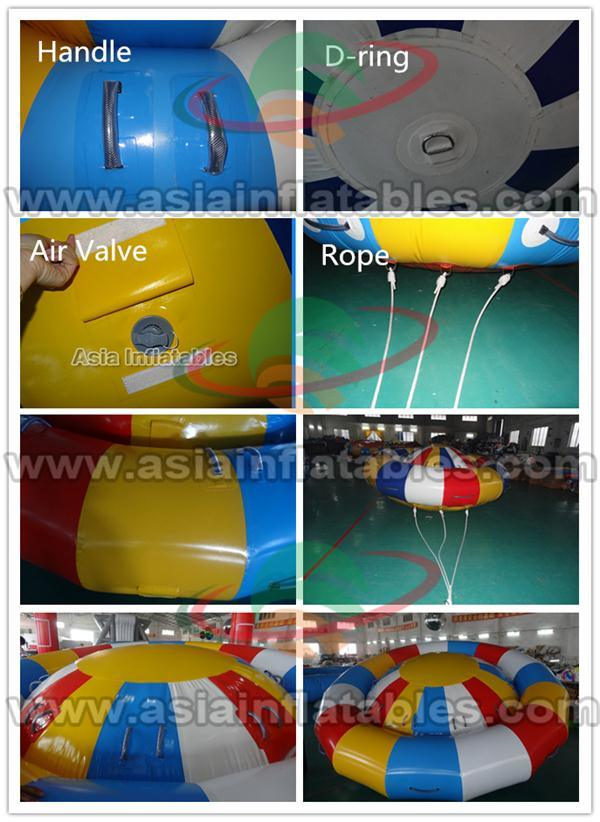 Custom Giant Durable PVC Disco Boat Towable Inflatable Saturn Inflatable Hurricane Boat