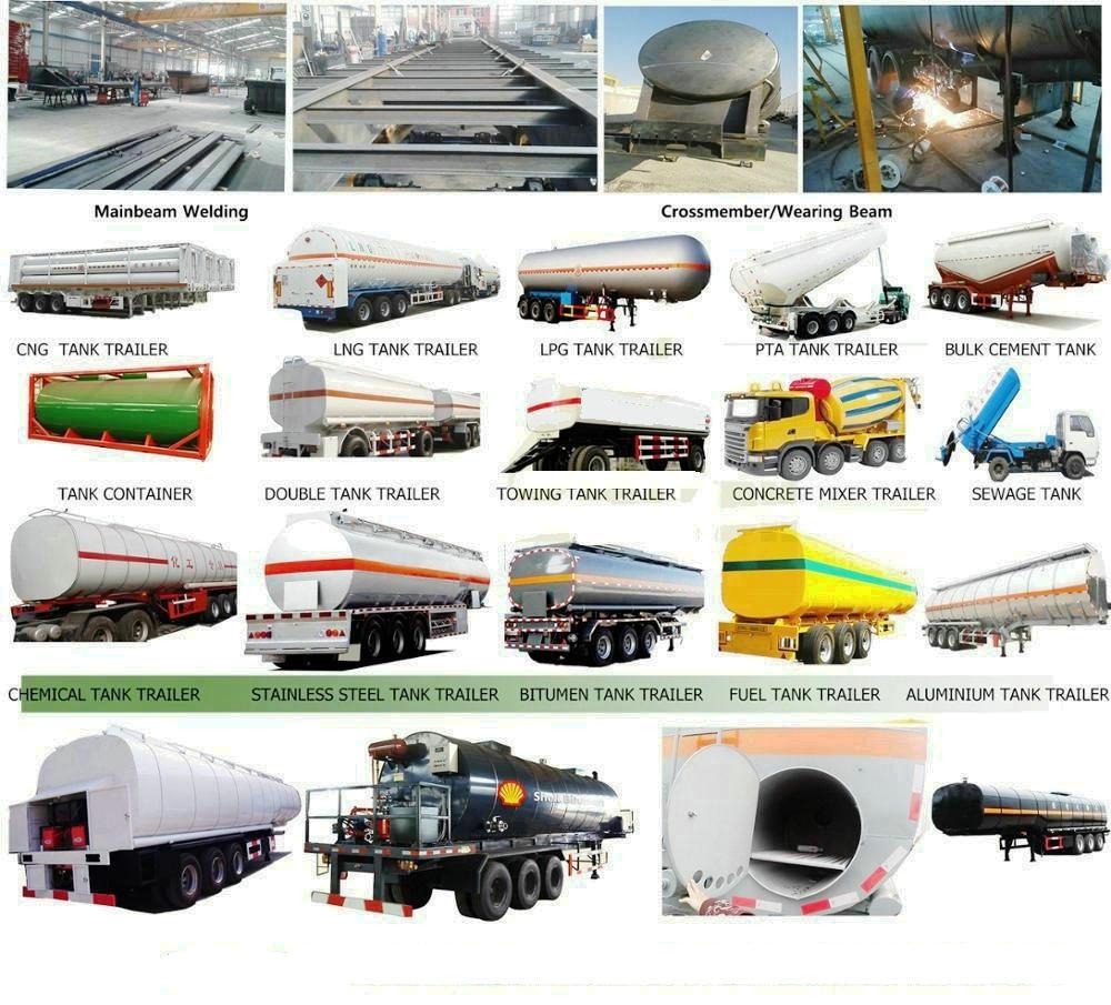 Tri Axles Trailer Tanker with Insulation Layer for Heat Bitumen, Liquid Asphalt, Coal Tar Oil, Crude Oil Transport Tank Capacity 30, 000L-45, 000liters 12wheels
