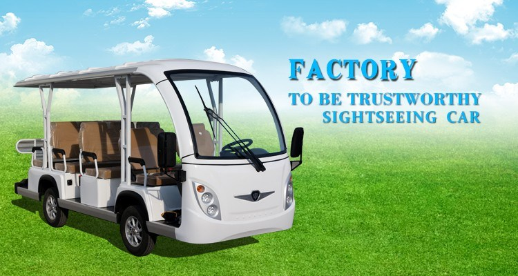 New Designed 8 Seats Enclosed Electric Sightseeing Shuttle Bus for Wholesales