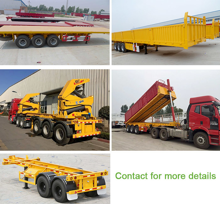 13m 4 Axle Flatbed Semi Truck Trailer with Good Quality