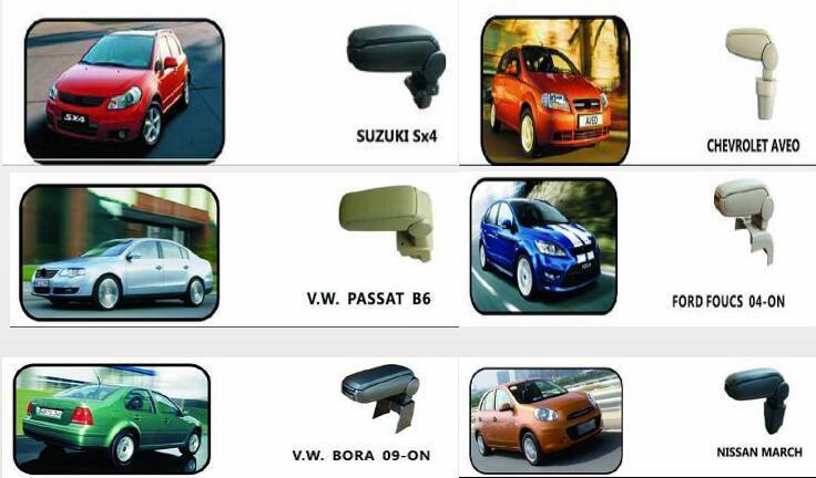 Hot Sale Auto Armrest Co<em></em>nsole Box/Case for Mazda 2