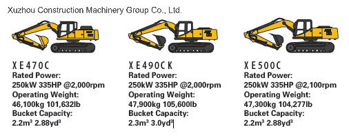 XCMG Official Xe500c 50ton Crawler Excavator (more models