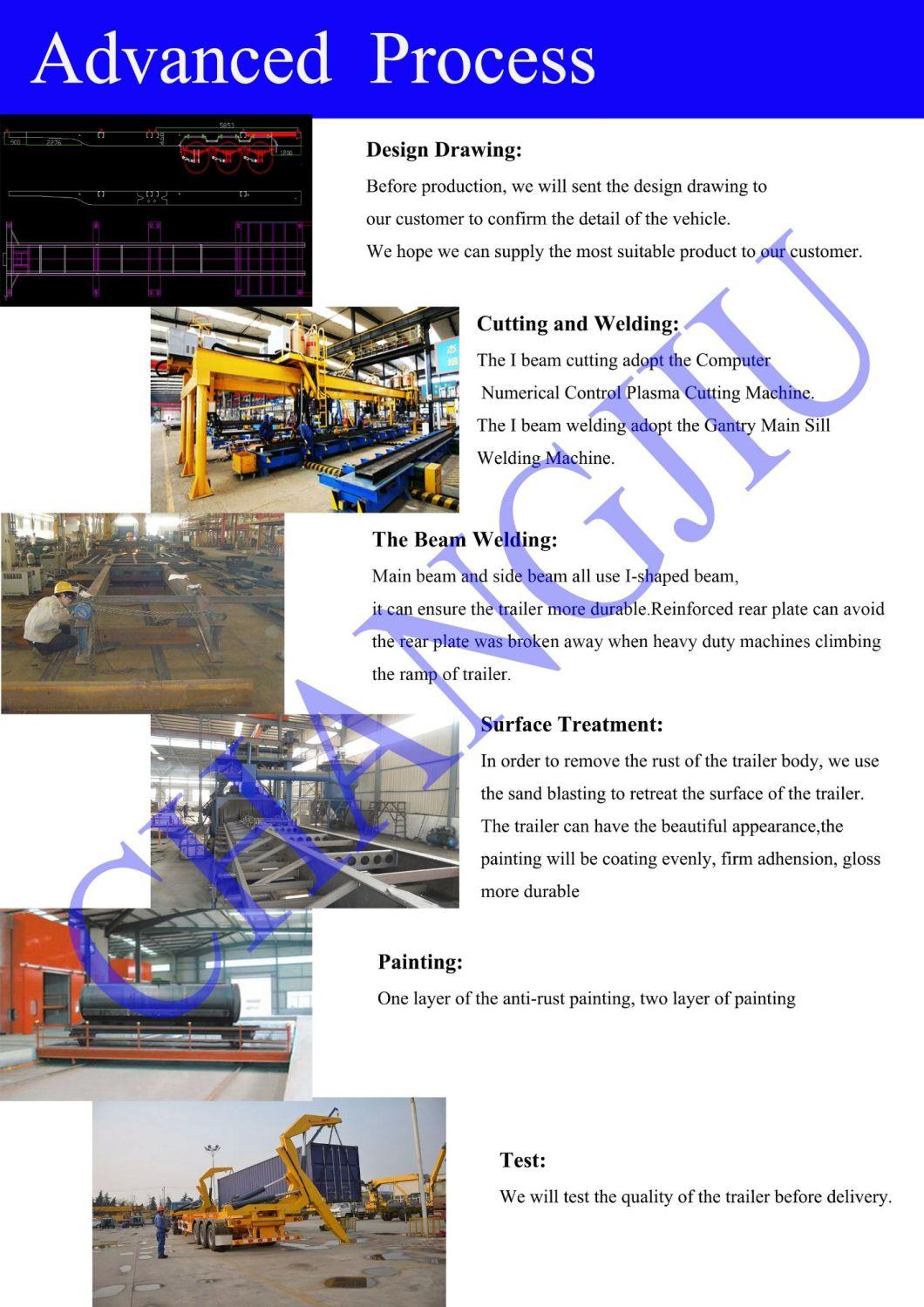 Skeletal Skeleton Chassis Flatbed Platform Co<em></em>ntainer Semi Trailer for Sale