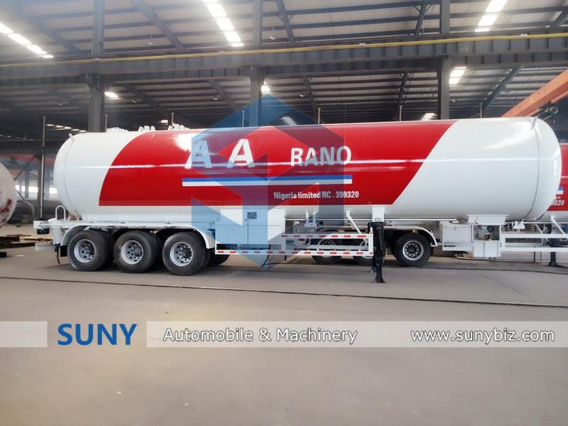 Good Price Export 56cbm Heavy LPG Tank Truck Trailer