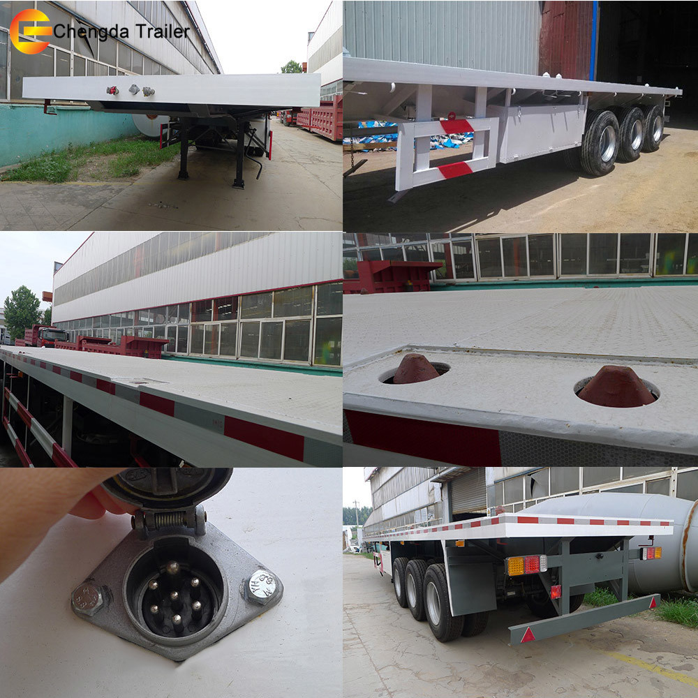 2017 New Flatbed Co<em></em>ntainer Truck Trailer Chassis for Sale