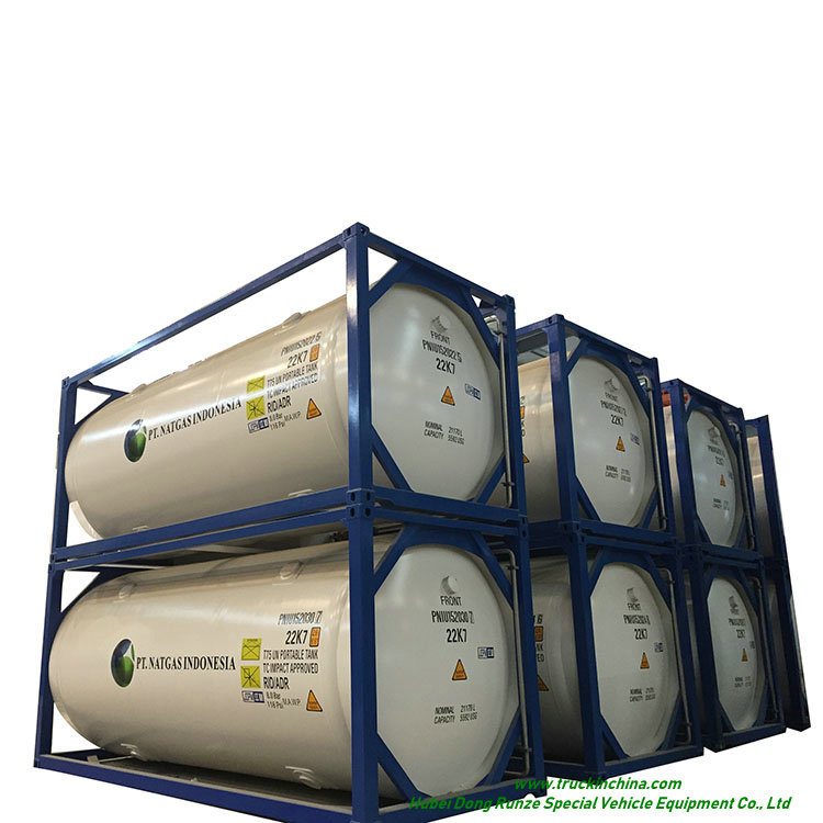 T75 ISO Tank Co<em></em>ntainer Cryogenic for Liquid LNG, Oxygen, Nitrogen, Argon, 20FT Co<em></em>ntainer Portable