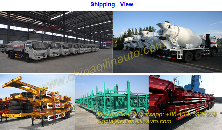 80-100ton 4 Axles Capacity Low Loader Trailer with Manual Ladder