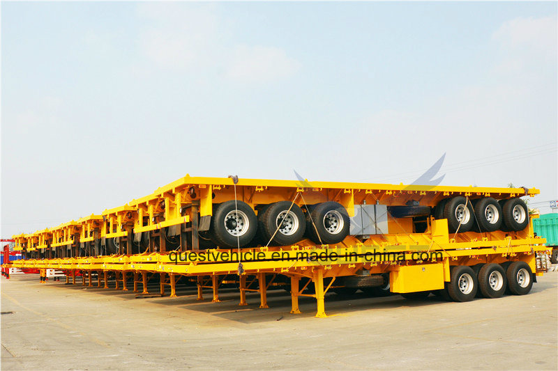 Tri-Axle 40 Foot Co<em></em>ntainer Locks Flatbed Semi Trailers