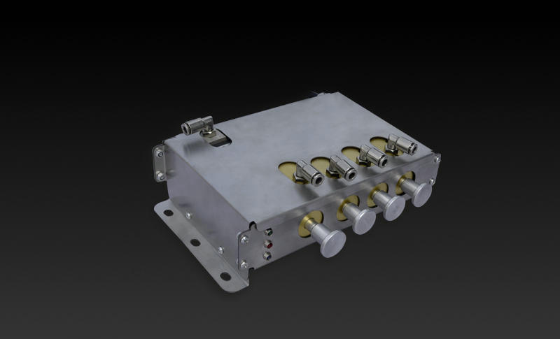 Speed 5 Km Automatic Pneumatic Co<em></em>ntrol Block Intelligent Co<em></em>ntrol System of Emergency Shut-off Valve (Fuel Tank Truck Aluminum 2-4 Compartments With GPS)