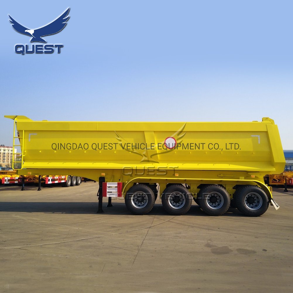 6 Axles 100 Ton Dump Tipper Semi Trailer Dumper Trailer