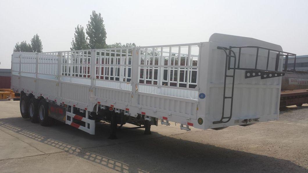 Heavy Duty Tri Axle Stake Fence Cargo Semi-Trailer Truck