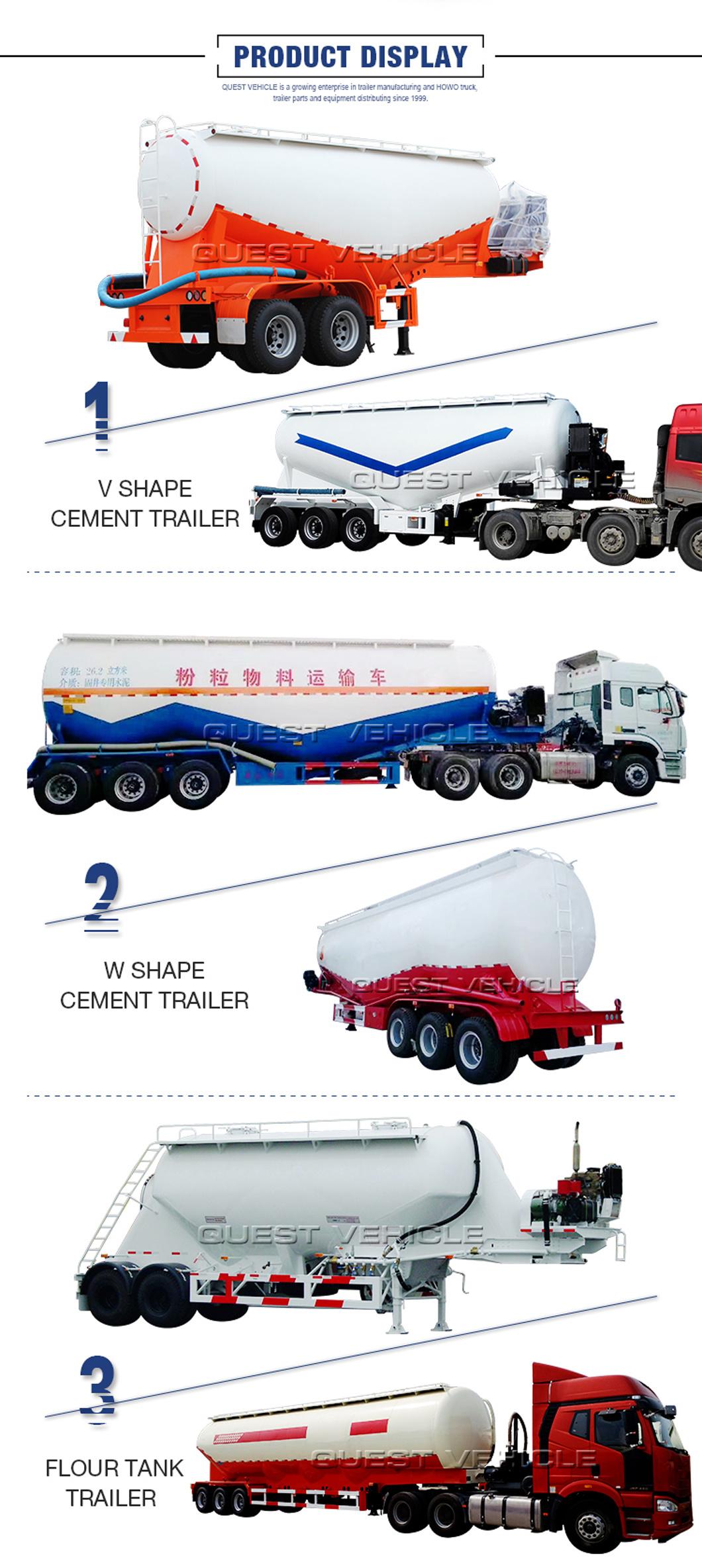 Banana Shape Factory 40-50tons Bulk Cement Tanker Truck Trailer Price