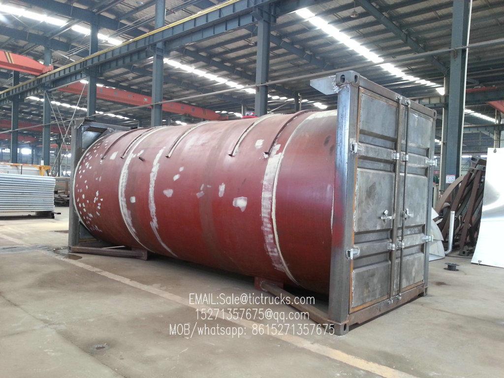 20FT ISO LPG Tank Co<em></em>ntainer for Liquid Propane, Cooking Gas, Dem, Isobutane 24kl -40kl Custermizing Co<em></em>ntainer Trailer Mounted