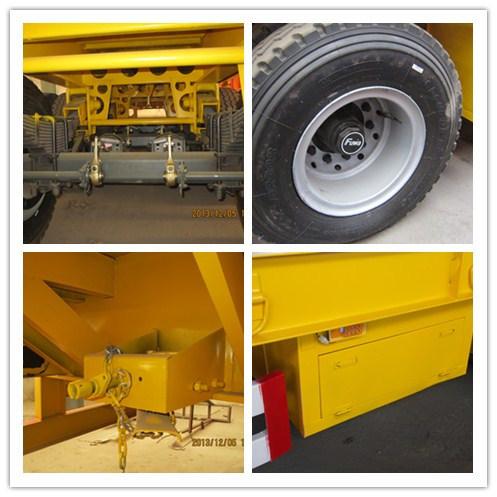 3 Axles Flatbed Co<em></em>ntainer Utility Cargo Truck Semi Trailer for Transport