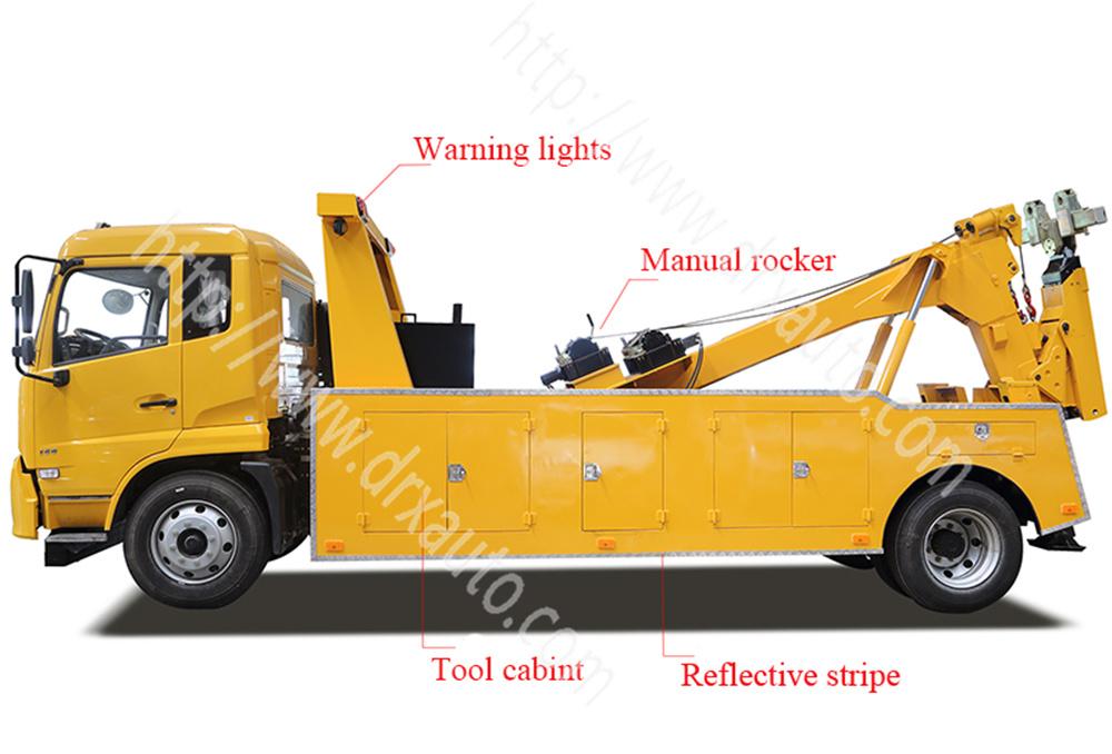 Do<em></em>ngfeng 8 Ton 180 HP Crane Type Wrecker Tow Truck