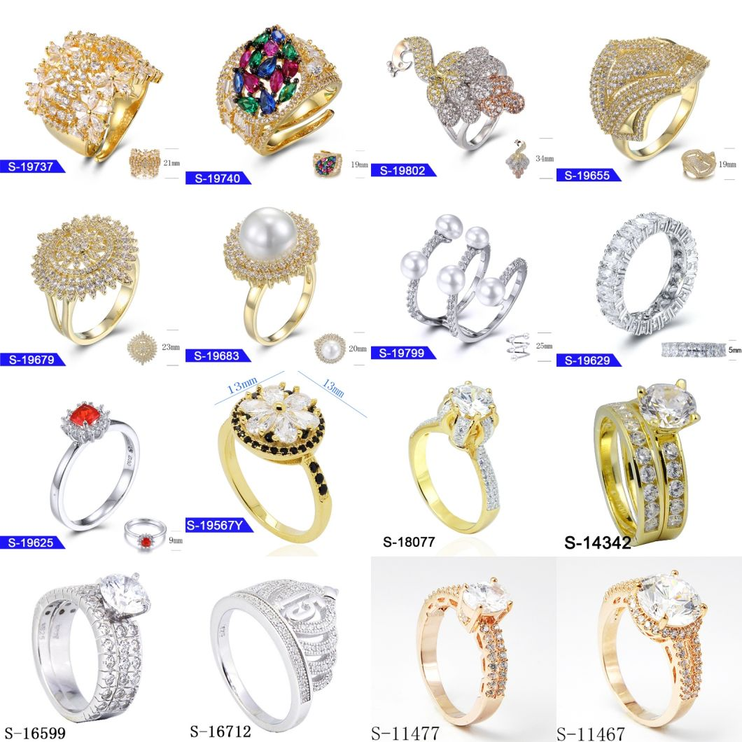 Wholesale Fashion Minimalist 925 Sterling Silver Jewellery Cubic Zirconia Wedding Ring for Girl