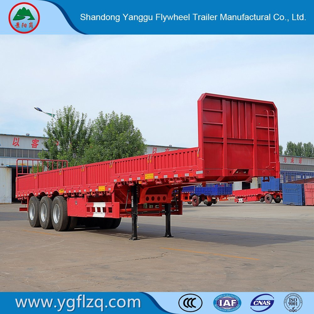 3 Axles Renovated/Renovate Side Wall/Flatbed Semi-Trailer/Turck Trailer with Twist Lock