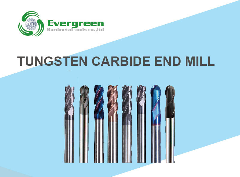 4 Flutes Solid Tungsten Carbide End Mills for Metal Cutting