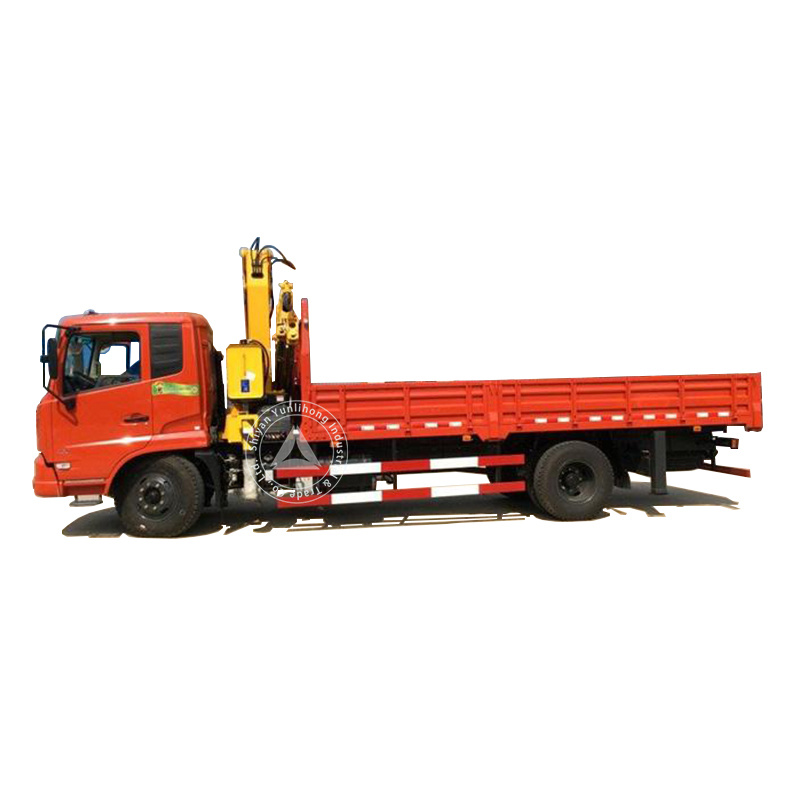 Do<em></em>ngfeng Lifting Height 12.5m Working Range 10m 8 Ton (8t) 4 Arms All Rotation Knuckle Boom Crane 4X2 6 Wheels LHD Truck Mounted Crane