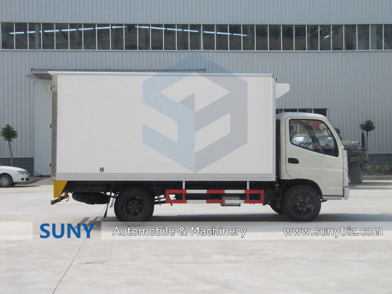 New Desigend Foton Rhd Small Freezer Refrigerated Cargo Van Box Truck for Sale