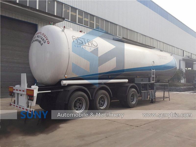 Nigeria Used 58.5cbm LPG Transport Tank Semi Trailer for Sale