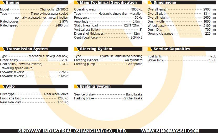 Double Drum Vibratory Roller (SWC203)