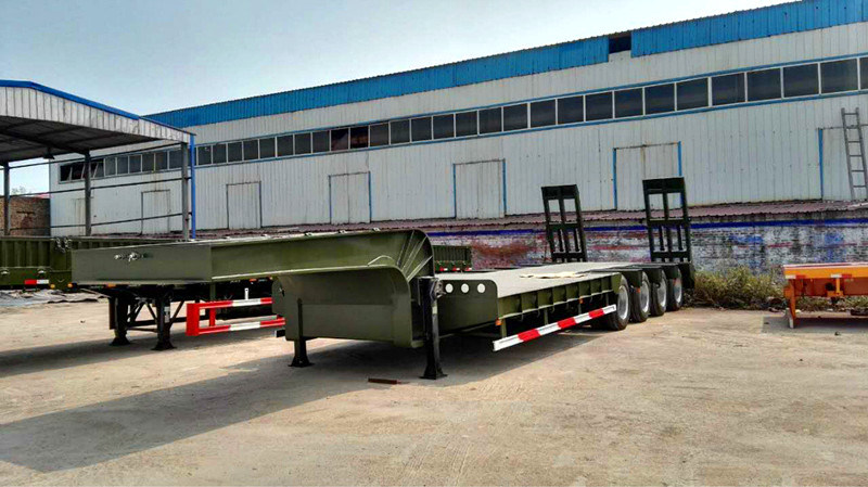 Utility Low Bed Co<em></em>ntainer Semi Trailer 3 Axle Hello Trailer