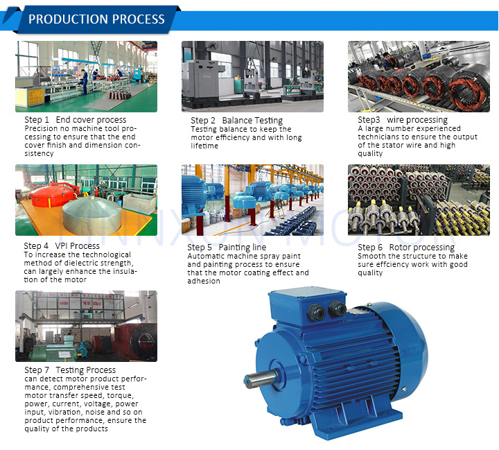 160kw Three Phase Electric Motor for Inverter