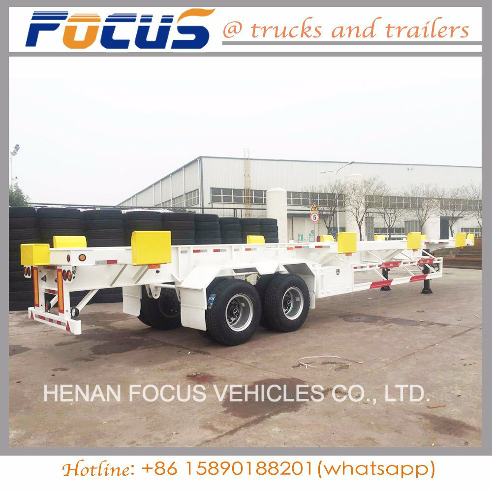 Shipping co<em></em>ntainer Bomb Cart Chassis Trailer for Hot Selling in Philippine Port