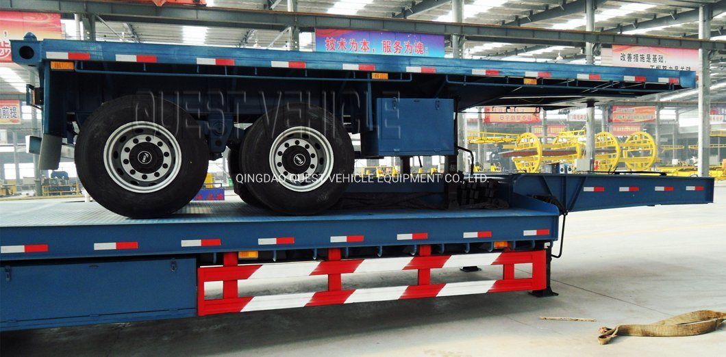 China 2-3 Axles 20FT 40FT Flatbed Co<em></em>ntainer Cargo Semi Trailer