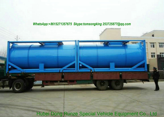 ISO Tank Co<em></em>ntainer 20FT for Wast Water (Carbon Steel/Lined PE /Stainless Steel SS304 Transport Sewage Wast Water, Wast Oil, Wast chemical liquid)
