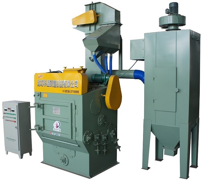 Q32 Rubber Belt Shot Blasting Machine / Paint Blast Cleaning Equipment for Casting Products