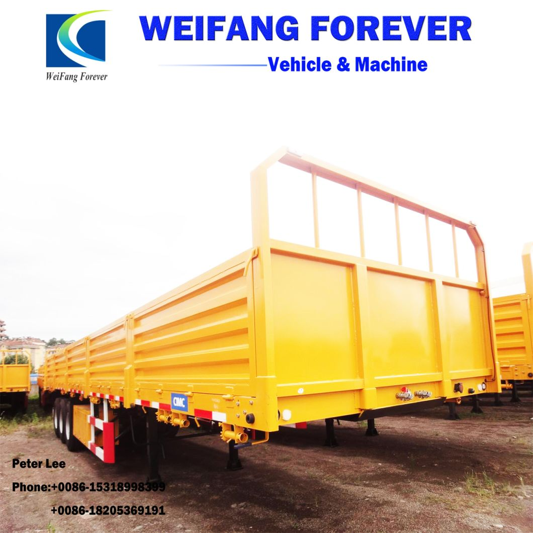 3 Axle Enclosed Side Wall Cargo Semi Trailer for Sale