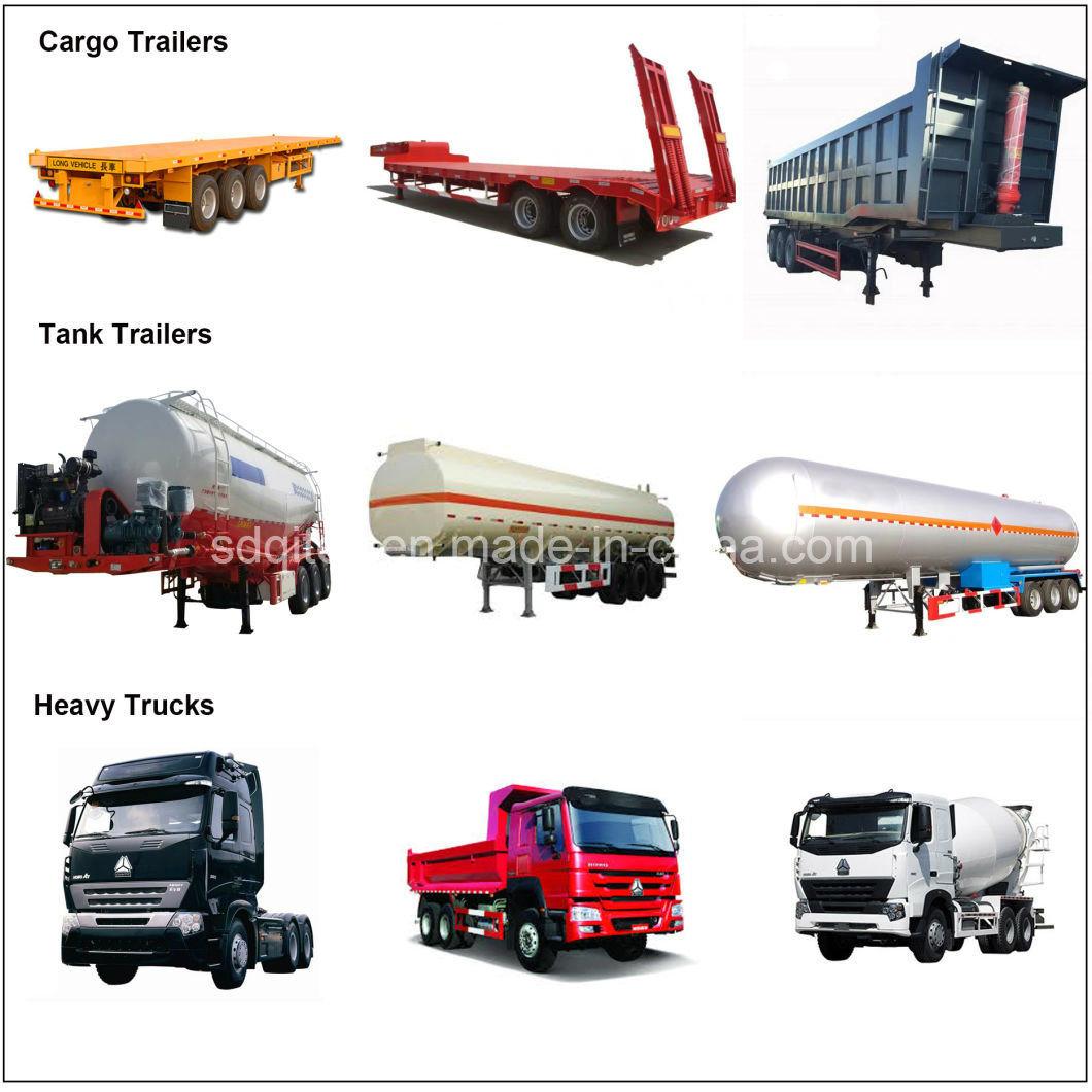 25-60 Cbm Fuel Heavy Crude Oil/Petrol/Utility for Methanol Transport Cement Silo Tank Semi Trailer