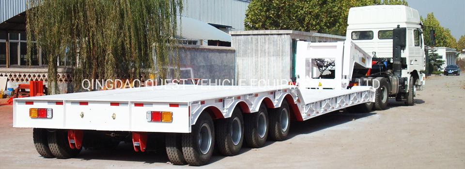 80t Removable Gooseneck Detach Lowbed Truck Trailer Lowboy Trailer Manufacturers