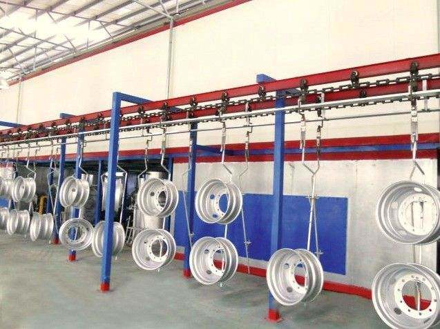 Huaxing Hanger Type Shot Blasting Machine, Tyre Rim Surface Cleaning Equipment