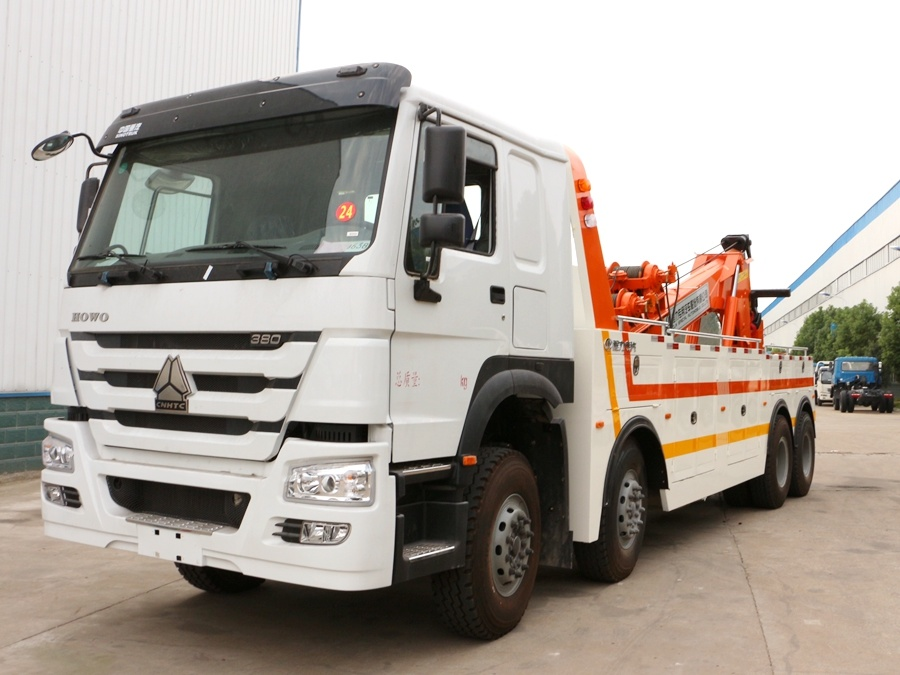 Heavy Duty HOWO 8X4 30ton Integrated Tow and Crane Wrecker Truck
