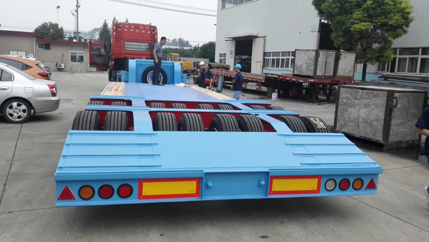 3.5m Width 80-100 Tons Lowbed Semi Trailer